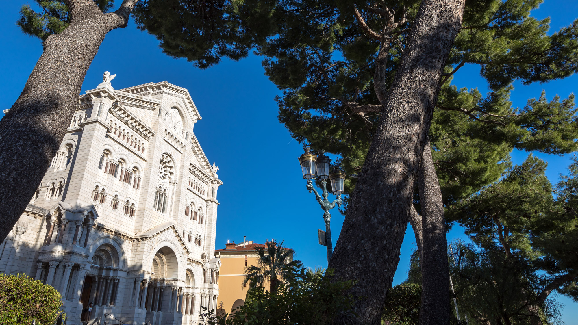 View of the Cathedral in Monaco-Ville in Monaco