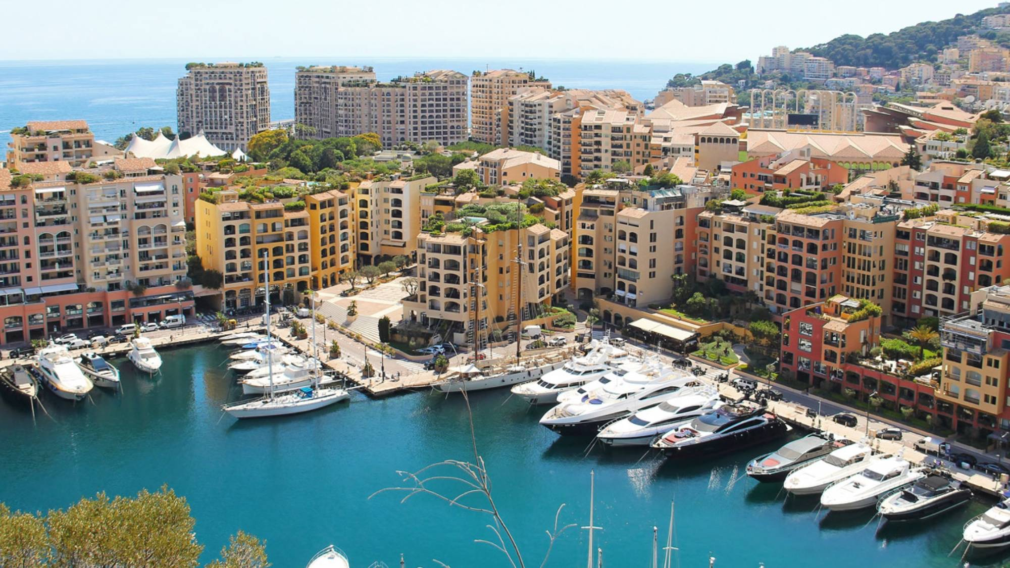 Panoramic view of a selection of monaco apartments for rent in La Condamine area of Monaco
