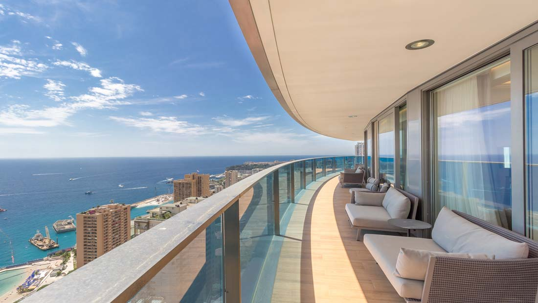 apartments in monaco with sea view