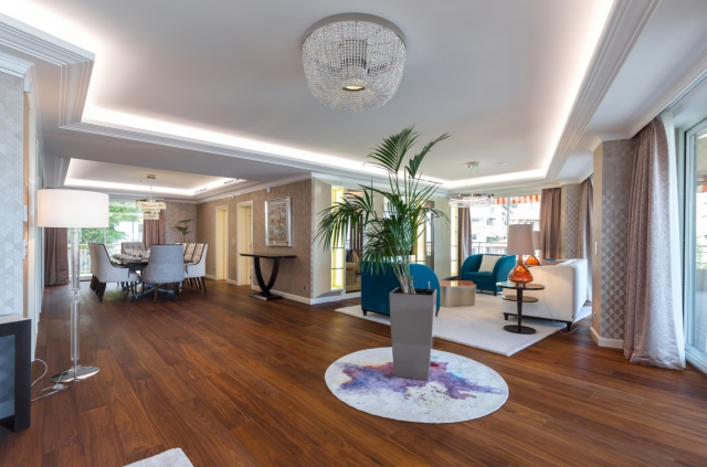 lounge of luxury apartment for sale in the Port Monaco