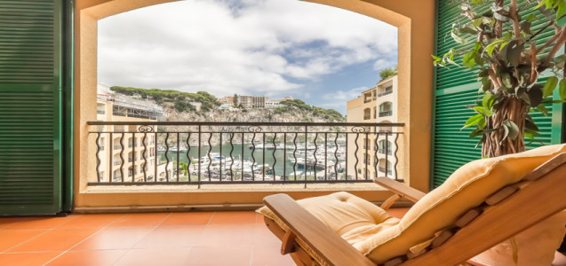4 roomed apartment on the port of Fontvieille