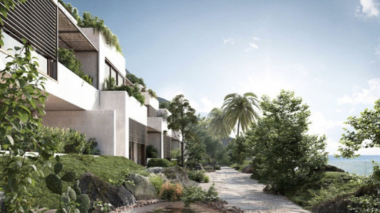 two-bedroom apartment with large terraces for sale in the Jardin Exotique | Miells